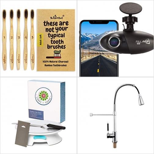 [Amazon折扣碼] 竹碳牙刷, 行車記錄器, 蛋糕裝飾轉盤, 廚房水龍頭 額外折扣!