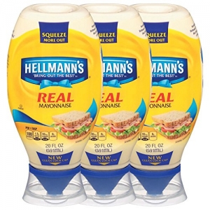 ihocon: Hellmann's Real Mayonnaise, Squeeze 20 oz, 3 count 美奶滋