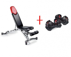 ihocon: as Bowflex SelectTech 552 Adjustable Dumbbells (Pair) + 5.1 Adjustable Weight Bench