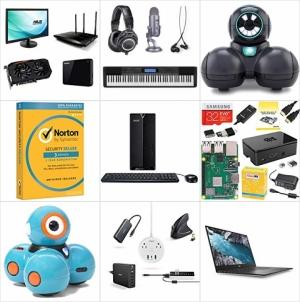 [Amazon今日特賣] 顯示卡, Router, 外接硬碟…電腦配件, 兒童編程機器人, Norton Security, Raspberry Pi Kits, Dell XPS筆電及Chromebooks, 特賣