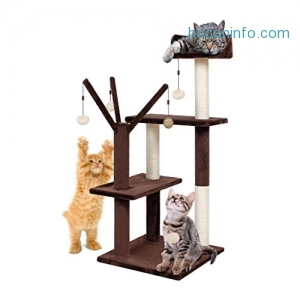 ihocon: Finether Cat Tree Tower Furniture Kitten Playhouse猫跳台
