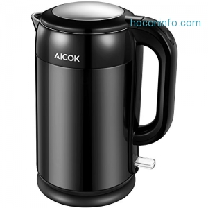 ihocon: Electric Kettle Double Wall Cool Touch Tea Kettle, 1.7 Liter雙層電熱水瓶
