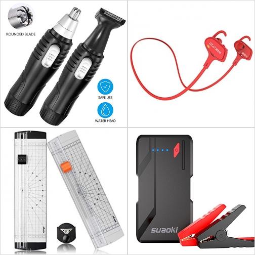 [Amazon折扣碼] 修容除鼻毛器, 藍芽無線耳機, 裁紙器, 汽車啓動行動電源 額外折扣!