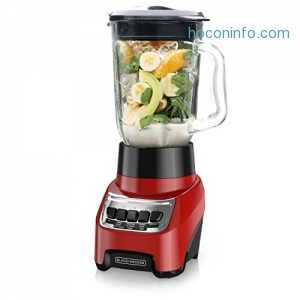 ihocon: BLACK+DECKER Countertop Blender with 6-Cup Glass Jar, 10-Speed Settings, Red, BL1210RG