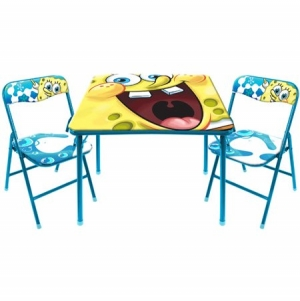 ihocon: Nickelodeon Spongebob Activity Table and Chair Set 活動桌+椅子