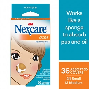 ihocon: Nexcare Acne Cover, Drug-Free, Gentle, Breathable Cover, 36 Count  痘痘貼