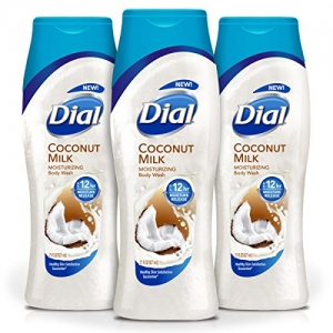 ihocon: Dial Body Wash, Coconut Milk with Up to 12 Hour Moisture Release, 21 Fluid Ounces (Pack of 3) 沐浴乳