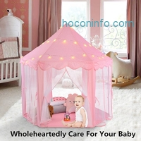 ihocon: Ejoyous Princess Castle Kids Play Tent With Star LED Lights公主夢幻Play Tent含LED星星燈