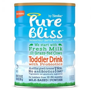 ihocon: Pure Bliss by Similac Toddler Drink with Probiotics, Starts with Fresh Milk from Grass-Fed Cows, One Month Supply, 31.8 ounces (Pack of 4)  幼兒奶粉-含益生菌