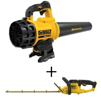 ihocon: DEWALT 90 MPH 400 CFM 20-Volt MAX Lithium-Ion Cordless Handheld Leaf Blower with 5.0Ah Battery, Charger and Bonus Hedge Trimmer