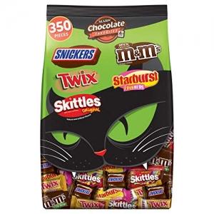 ihocon: Mars Chocolate & More Halloween Candy Variety Mix (M&M'S, SNICKERS, TWIX, STARBURST & SKITTLES), 350 Pieces 7 lb Bag 萬聖節巧克力糖果混合包