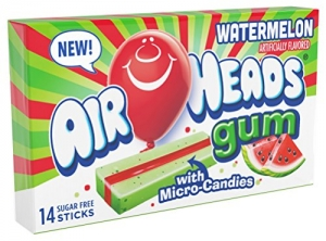 ihocon: AirHeads Candy Sugar-Free Chewing Gum with Xylitol, Watermelon, 14 Stick Pack (Bulk Pack of 12) 無糖口香糖 12條