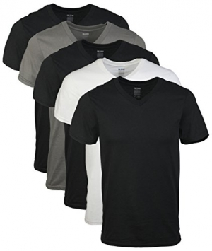ihocon: Gildan Men's Assorted V-Neck T-Shirts Multipack 男士T恤 5件