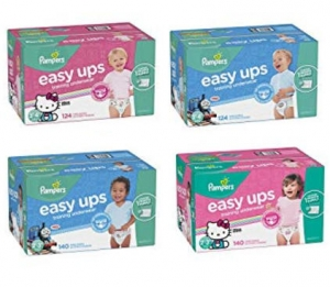 ihocon: Pampers Easy Ups Training Pants Pull On Disposable Diapers for Girls, Size 5 (3T-4T), 124 Count