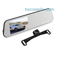 ihocon: AUTO-VOX M6 Backup Camera and Monitor Kit 4.5'' IPS Touch Screen Full HD 1080P Mirror Dash Cam 行車記錄器,含倒車警示系統