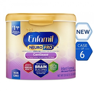 ihocon: Enfamil NeuroPro Gentlease Infant Formula - Clinically Proven to reduce fussiness, gas, crying in 24 hours - Brain Building Nutrition Inspired by breast milk - Reusable Powder Tub, 20 oz (Pack of 6)   嬰兒奶粉