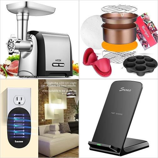 [Amazon折扣碼] 電動絞肉機, 氣炸鍋配件, 小型捕蚊燈, 手機無線充電板 額外折扣!