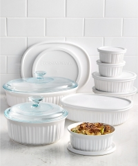 ihocon: Corningware French White 18 Piece Bakeware Set烘焙皿