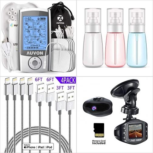 [Amazon折扣碼] TENS止痛儀/ 脈衝按摩器, 噴霧瓶, iPhone充電線, 行車記錄器  額外折扣!