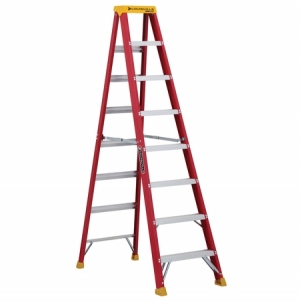 ihocon: Louisville Ladder 8-Feet Duty Rating Fiberglass Stepladder 玻璃纖維梯子