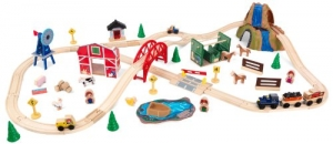 ihocon: KidKraft Farm Train Set 木製火車組