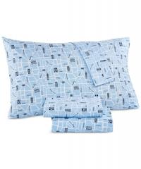 ihocon: Whim by Martha Stewart Collection Novelty Print Twin 3-pc Sheet Set, 200 Thread Count 100% Cotton