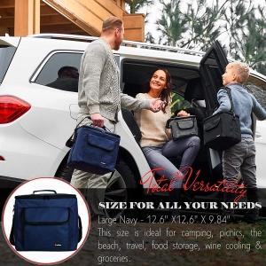 ihocon: Large Cooler Bag (Lunch Bag + 1 Bonus Ice Pack)