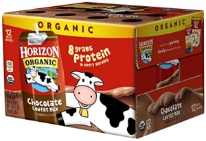 Horizon Organic有機巧克力低脂牛奶12瓶 $8.99免運(原價$11.98, 25% Off)