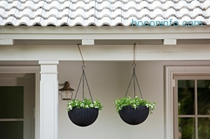 ihocon: Keter 221486 Hanging Planter Set, Espresso Brown