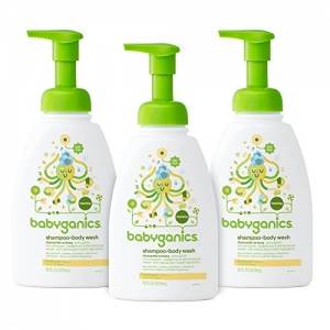 ihocon: Babyganics Baby Shampoo + Body Wash, Chamomile Verbena, 16oz Pump Bottle (Pack of 3)