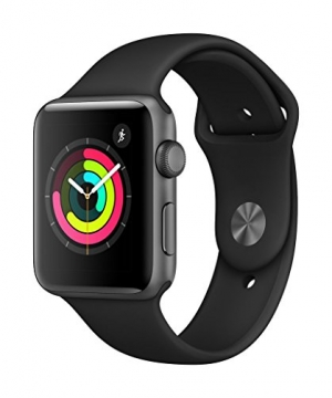ihocon: AppleWatch Series3 (GPS, 42mm) - Space Gray Aluminium Case with Black Sport Band