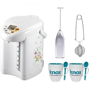 Zojirushi 3L 電熱水瓶+奶泡器+泡茶器+茶杯組 $169.99免運