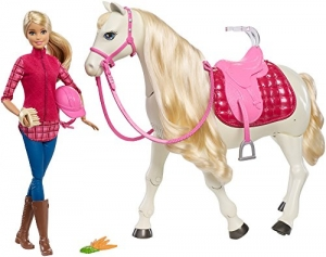ihocon: Barbie芭比 Dream Horse & Doll, Blonde
