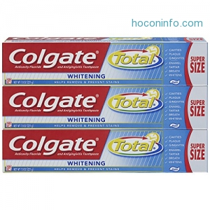 ihocon: Colgate Total Whitening Toothpaste - 7.8 ounce (3 Count)
