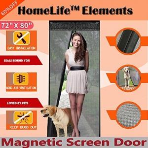 ihocon: HomeLife Elements 72(w) X 80(h) Magnetic Screen Door 磁性紗門