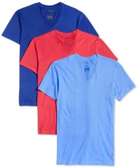 ihocon: Polo Ralph Lauren Men's Classic Fit V-Neck T-Shirts, 3-Pack