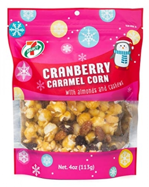 ihocon: 7-Select Holiday Caramel Popcorn, Cranberry, 4 Oz Resealable Bags-6 Pack