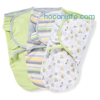 ihocon: SwaddleMe Original Swaddle 3-PK, Busy Bees (SM)嬰兒包巾