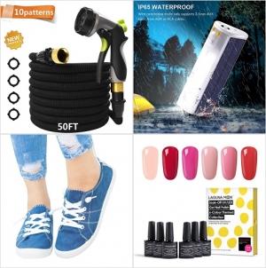Amazon: 澆花水管及噴水頭, 太陽能LED工作燈, 女士便鞋, 凝膠指甲油 額外折扣!