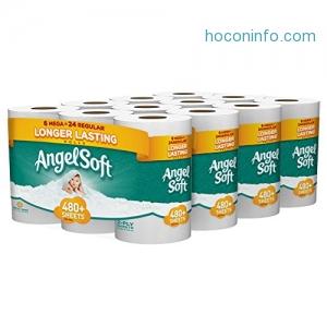 ihocon: Angel Soft Toilet Paper, Bath Tissue, 24 Mega Rolls