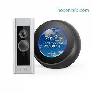 ihocon: Echo Spot - Black + Ring Video Doorbell Pro