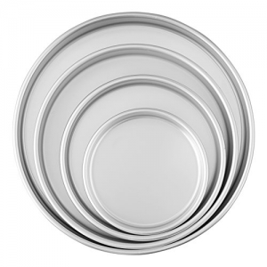 ihocon: Wilton Round Cake Pans, 4 Piece Set for 6-Inch, 8-Inch, 10-Inch and 12-Inch Cakes 圓形蛋糕盤