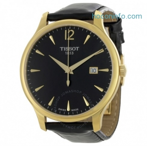ihocon: TISSOT Tradition Black Dial Men's Watch Item No. T063.610.36.057.00
