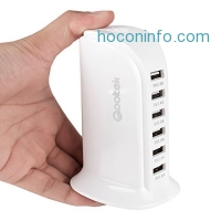 ihocon: Qooltek 44W 6 Port USB Charger Tower