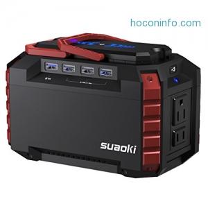 ihocon: Suaoki 150Wh 40 500mAh Portable Solar Generator w/ 2AC Outlets & 4 USB Ports