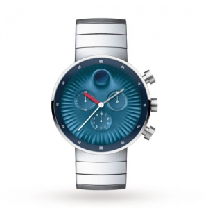 ihocon: Movado 3680010 Men's Edge Concave Blue  Quartz Watch  摩凡陀男錶