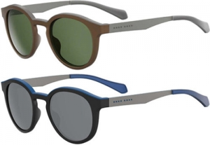 ihocon: Hugo Boss 偏光太陽眼鏡 Polarized Men's Vintage Round Sunglasses - 0869S (005A / 00N2)