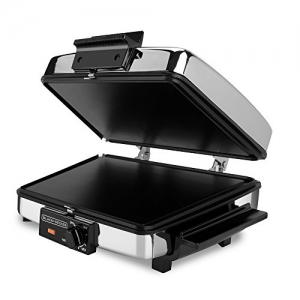 ihocon: BLACK+DECKER 3-in-1 Waffle Maker with Nonstick Reversible Plates, Stainless Steel
