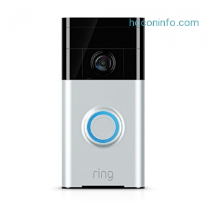 ihocon: Ring智能門鈴 Wi-Fi Enabled Video Doorbell in Satin Nickel, Works with Alexa