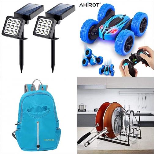 [Amazon折扣碼] 太陽能庭園燈, 遙控汽車, 運動背包, 鍋/鍋蓋架 額外折扣!